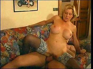 Mature Milf Fucks Anal a Young Guy With..