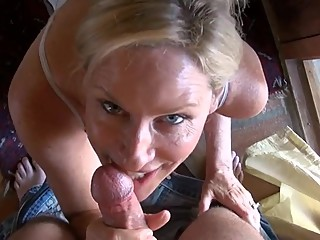 stepMom Gives stepson A Blowjob In Yoga..