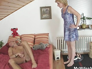 She rides her daughter's BF cock and..
